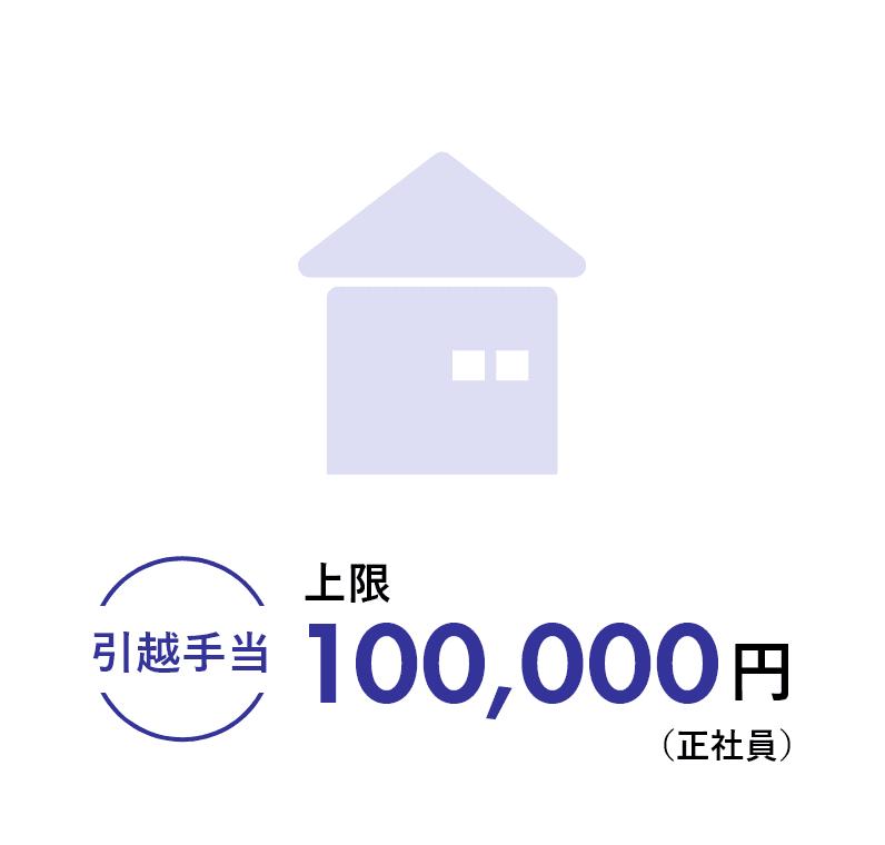 引越手当上限100,000円